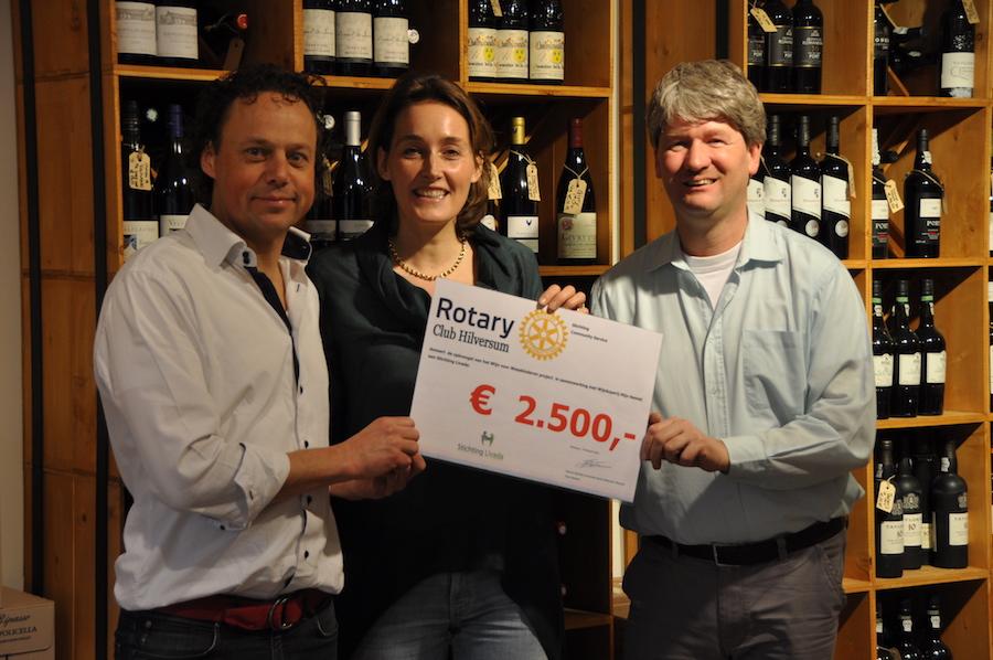 Rotary Hilversum en Wijnwinkel mijn Hemel